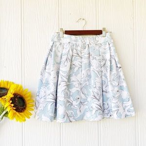 1. State Floral Mini Skirt